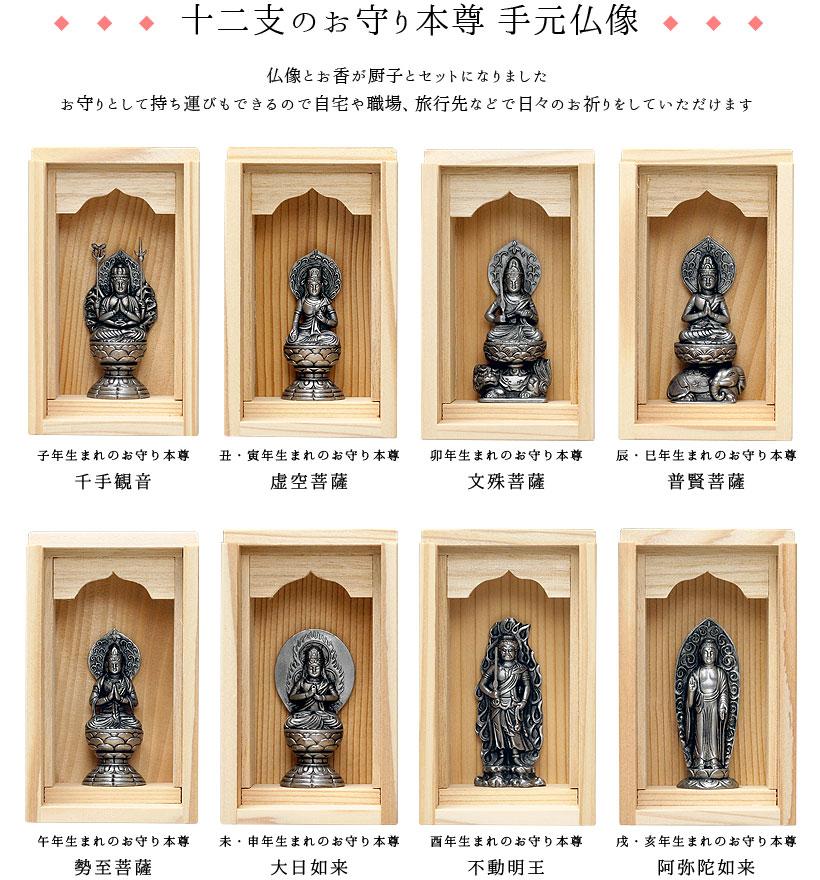 十二支のお守り本尊手元仏像
