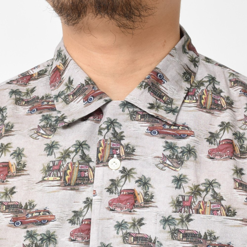Sシャツ Giannetto コットンアロハプリントオープンカラーS/ BOWLING/8G931BOWMM 41081008109 (ジャンネット)