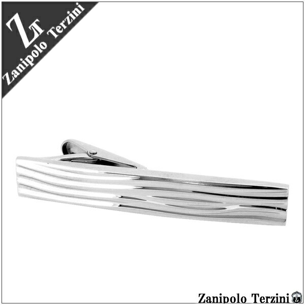 【Zanipolo Terzini】波模様 サージカルステンレス ネクタイピン