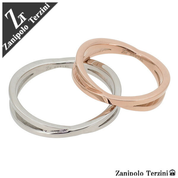 【Zanipolo Terzini】クロスリング サージカルステンレス ペア リング