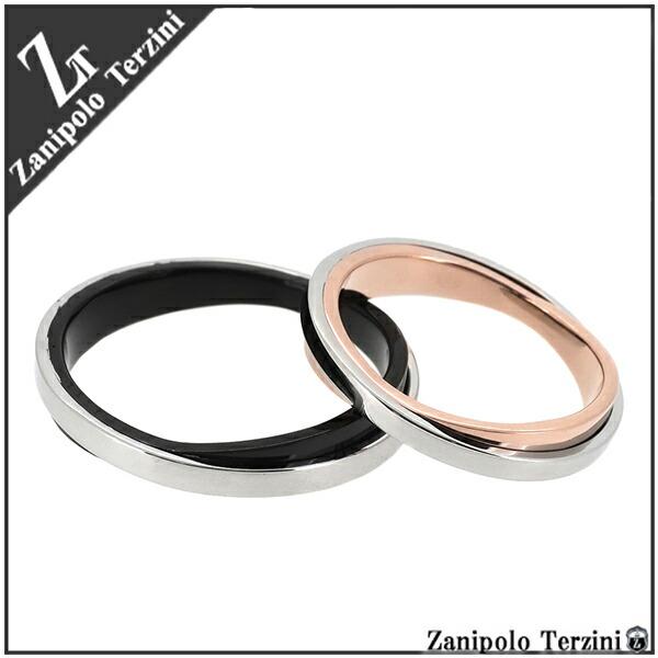 【Zanipolo Terzini】2カラー クロス サージカルステンレス ペアリング