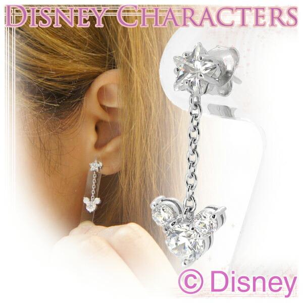 【Disney】ミッキー CZスター シルバーピアス