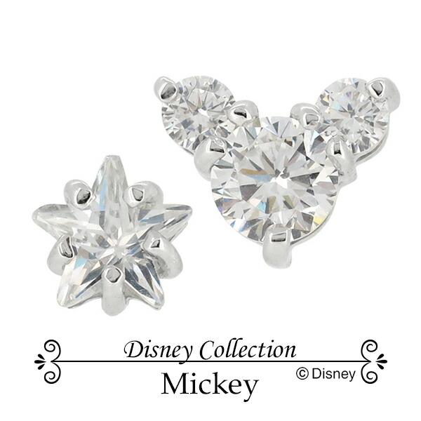 Disney ディズニー ミッキー スター ジルコニア シルバー ピアス