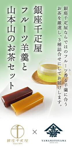 銀座千疋屋フルーツ羊羹と山本山のお茶セット