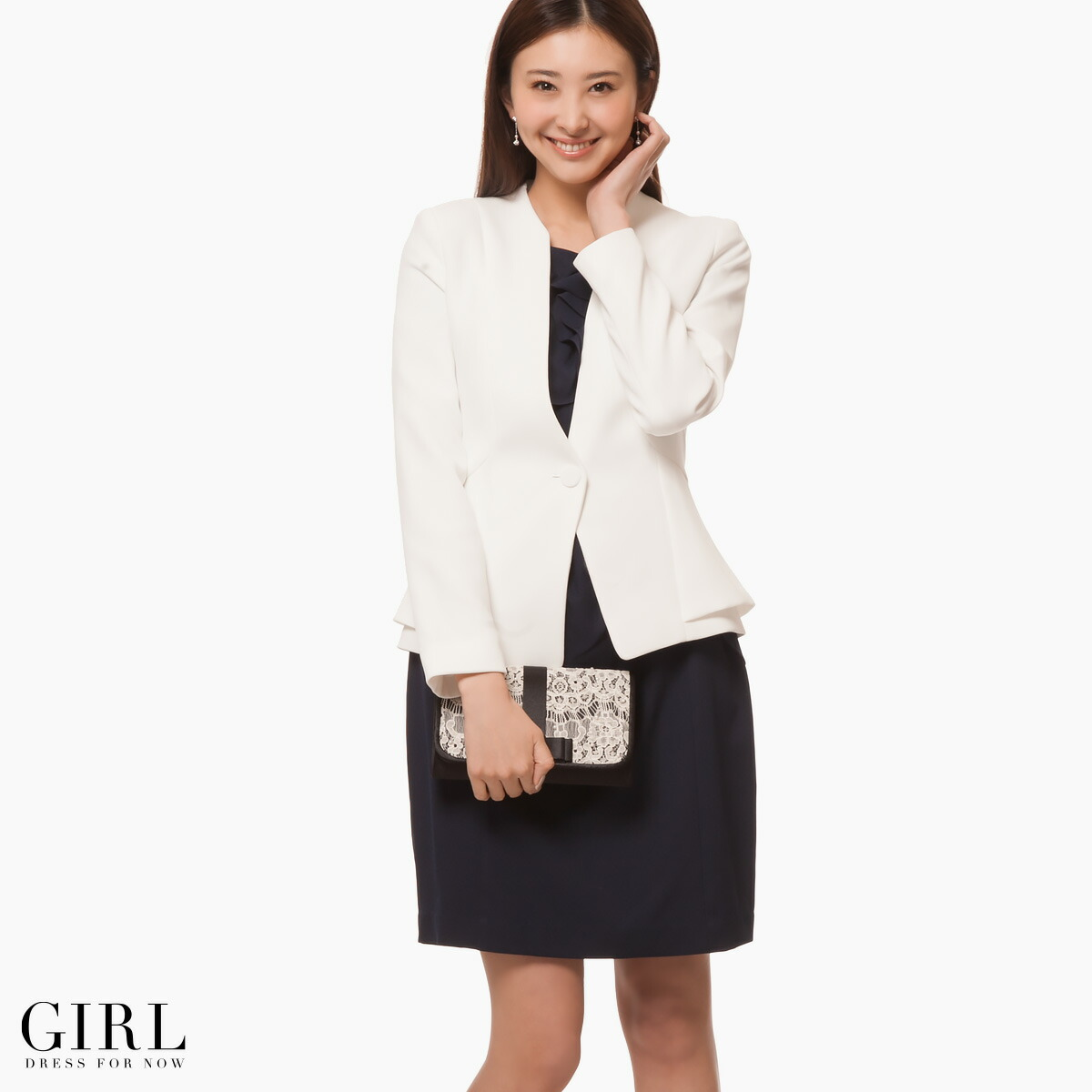 White dress coat - Jacket Breath 10 000 Yen With Sleeves Long Sleeved Wedding Parties Party Party Entrance Amp Graduation Ceremony