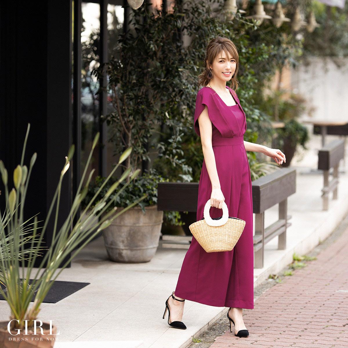 f470ac91169 パンツドレス · #スレンダーライン · #大きいサイズ · #体型カバー · #エレガント · #7,000円台(税込) · #袖付き · #半袖  · #結婚式 · #パーティー · #二次会