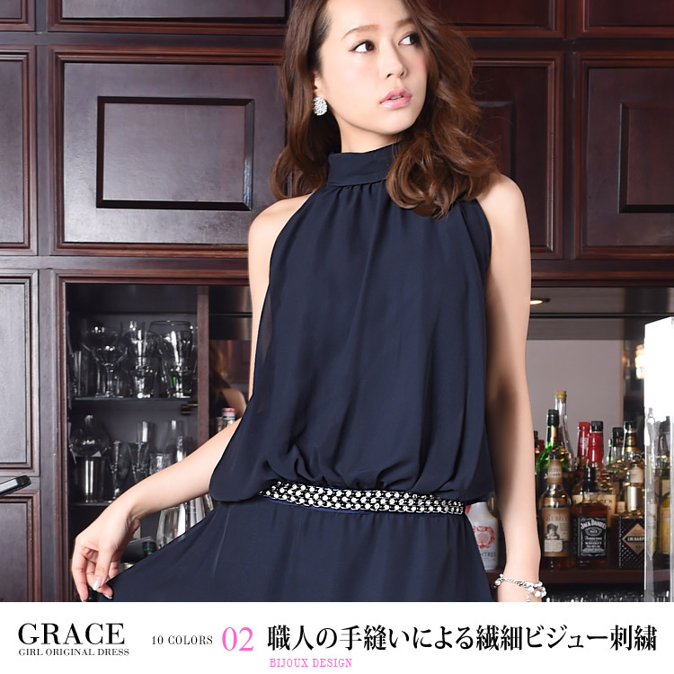 グレースドレス・職人の手縫いによる繊細ビジュー刺繍・モデル:青田夏奈