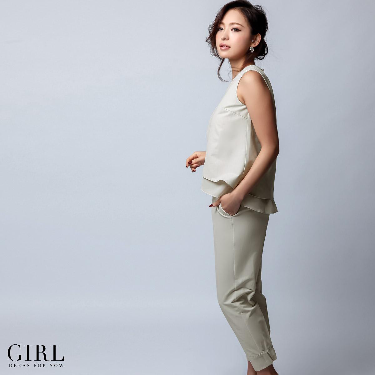 Dress shop GIRL   Rakuten Global Market: Peplum pants dress set up ...