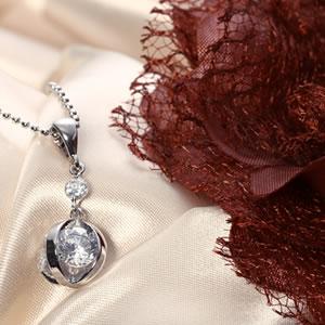 Czダイヤモンドジュエリー大粒ボールペンダント|プレゼント|ギフト|Diamond necklace【宅配便】