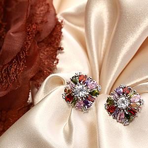 Czダイヤモンドジュエリーマルチカラーピアス【サニーブロッサム】|プレゼント|ギフト|Diamond pierce【宅配便】
