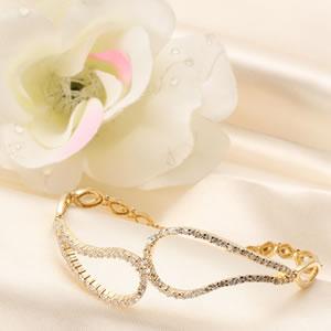 ゴールドコーティングczダイヤモンドジュエリーシャイニーブレスレット|プレゼント|ギフト|Diamond【宅配便】