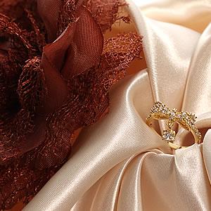ゴールドCzダイヤモンドジュエリー一粒チャームパヴェリボンリング|指輪|プレゼント|ギフト|Diamond ring|アクセサリー|【宅配便】7-8