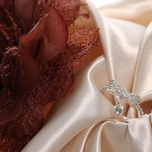 Czダイヤモンドジュエリー一粒チャームパヴェリボンリング|指輪|プレゼント|ギフト|Diamond ring|アクセサリー|【宅配便】7-8