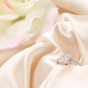 Czダイヤモンドジュエリーラブハートリング|指輪|プレゼント|ギフト|Diamond ring|アクセサリー|【宅配便】8-9