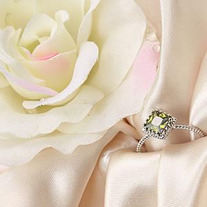 Czダイヤモンドジュエリー大粒 ドレッシーリング エメラルドグリーン|緑|指輪|プレゼント|ギフト|Diamond ring|アクセサリー|【宅配便】8-9