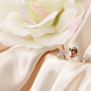 Czダイヤモンドジュエリーリング しずくシャンパンゴールド|指輪|プレゼント|ギフト|Diamond ring|アクセサリー|【宅配便】8-9