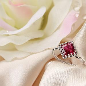 シンセティックルビー 大粒ドレッシーリング|指輪|プレゼント|ギフト|Diamond ring|アクセサリー|ジュエリー|【宅配便】8-9