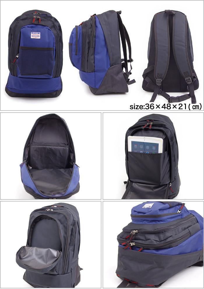 e08ef0d9a93f リュック メンズ 黒 real design デイパック リュックサック WRD-3000 通学 通学 レディース