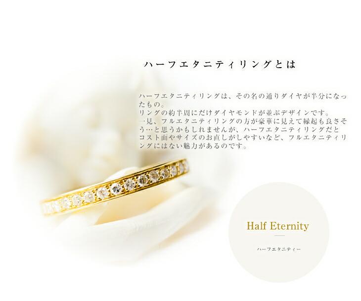 送料無料/ハーフエタニティ/ダイヤ/指輪/K18/YG/イエローゴールド/ダイヤモンド/0.23ct/リング