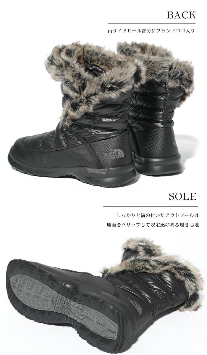 ショート ブーツ ThermoBallファー THE NORTH FACE 防水 ブーツ 保温 軽量 スノー ノースフェイス 防寒 レディースWomen's