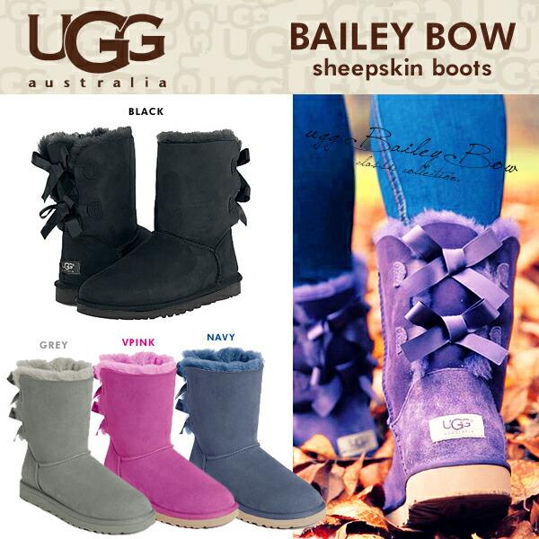 UGG アグ ムートンブーツ クラシック コレクション リボン ショート ベイリーボウ 《 BAILEY BOW 》
