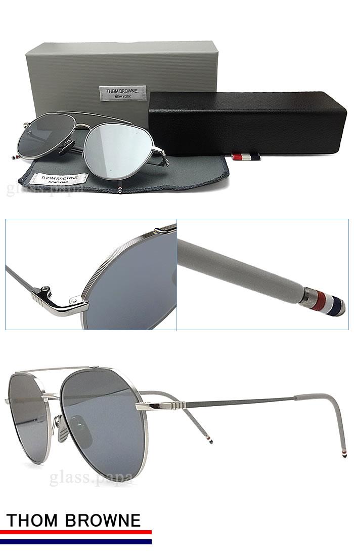 7a5a53cb4c2 glasspapa  Thom sunglasses THOM BROWNE TB-105-B-GRY-SLV classic ...