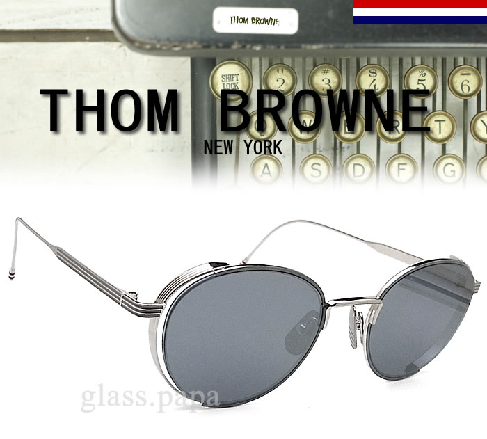 ee2fe23d316 glasspapa  Thom sunglasses THOM BROWNE TB-106-B-GRY-SLV mirror ...