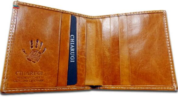 CHIARUGIイタリア製レザー二つ折り財布