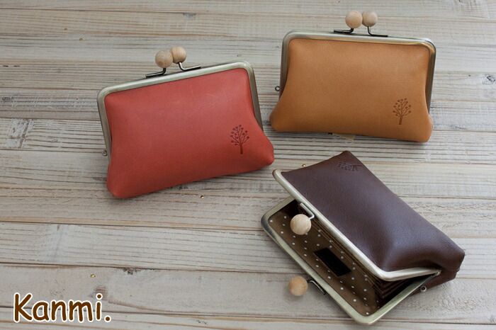 kanmi. drop tree KIDAMA pouch mini-wallet