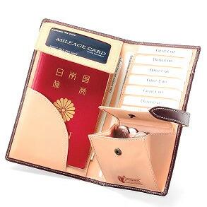 ブライドルレザーパスポートケース
