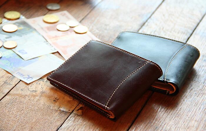 76c0d10688f1 名入れ無料】ブライドルレザーコンパクトウォレット/財布[ギフト 名前 ...