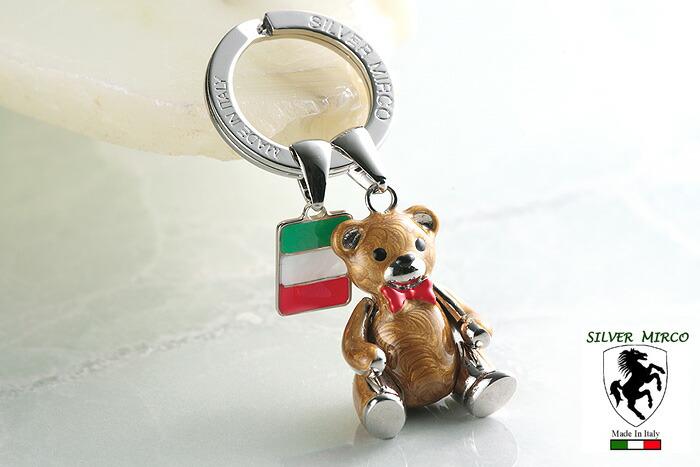 イタリア製シルバーキーリング テディベア