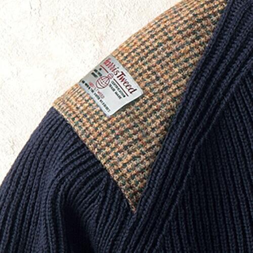 英国製オックスフォードクルーネックセーター