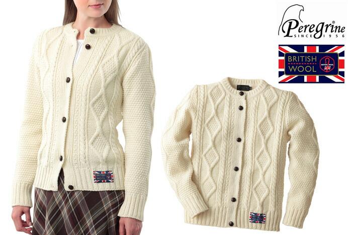 英国製ケーブルタートルネックセーター
