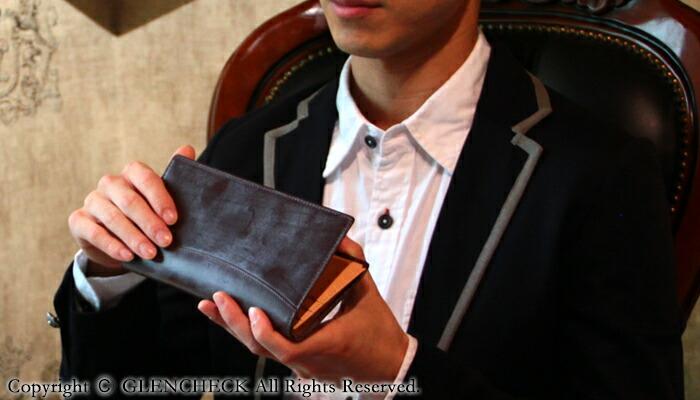 bridle leather long wallet GLCブライドルレザーライト長財布
