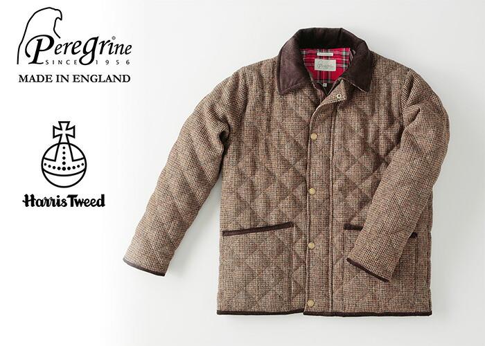 英国製ハリスツイードキルティングジャケット/Peregrine/ペレグリン