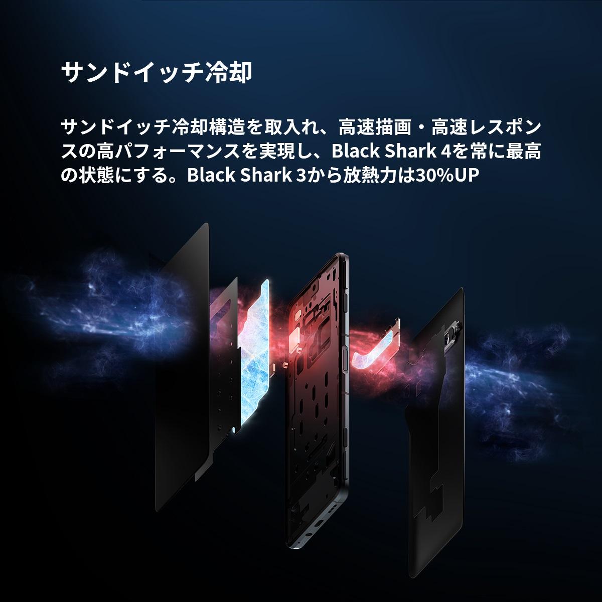 blackshark4ハイスペックモバイルスマートフォンデザインく
