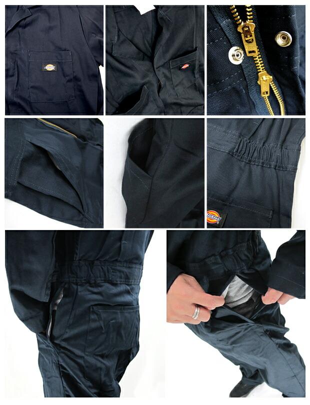 Dickies ディッキーズ 48611 ベーシックカバーオール(長袖つなぎ)