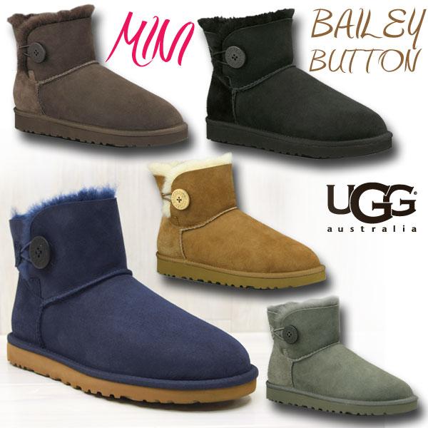 ugg mini bailey button navy