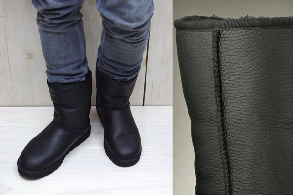 bd68e49a47e Ugg Australia Classic Short Boot Black Leather | MIT Hillel