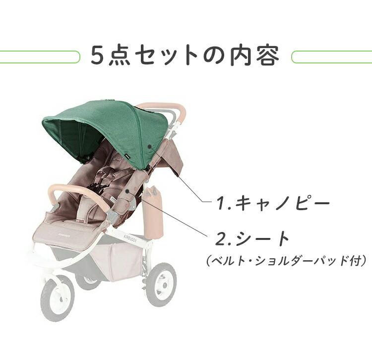 COCO乗り換え5点セット ドッグカートからココプレミアフロムバースベビーカーへの着せ替え