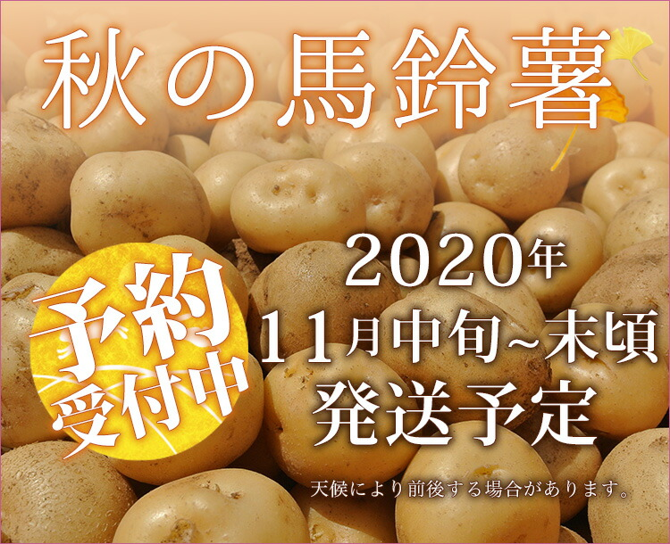 秋の馬鈴薯予約