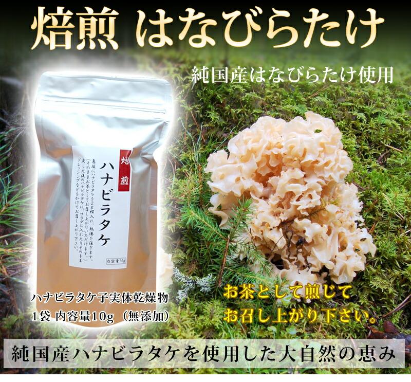純国産ハナビラタケ使用 焙煎はなびらたけ βグルカン 煎じ茶 健康茶 として