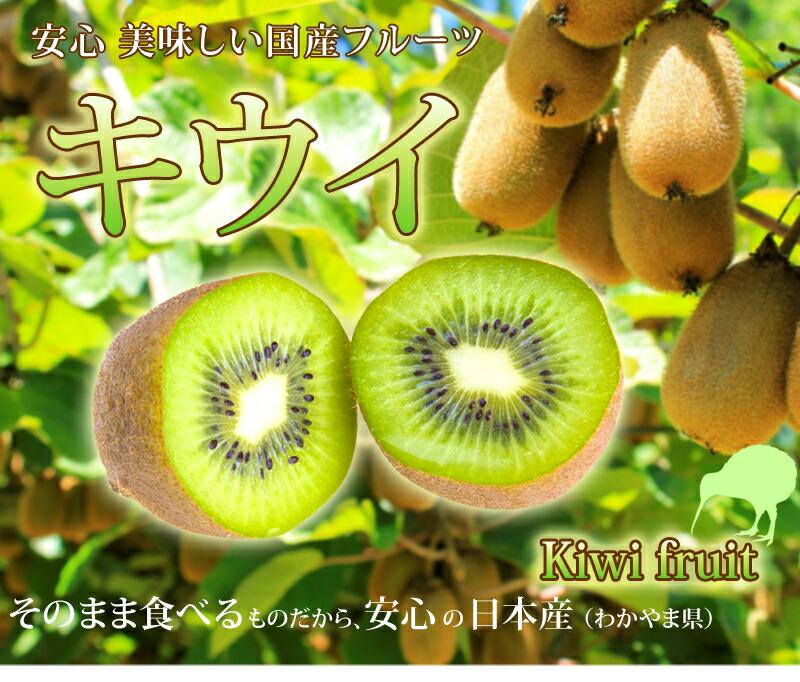 ニュージーランドで有名なキウイフルーツ、今回は日本産のご紹介