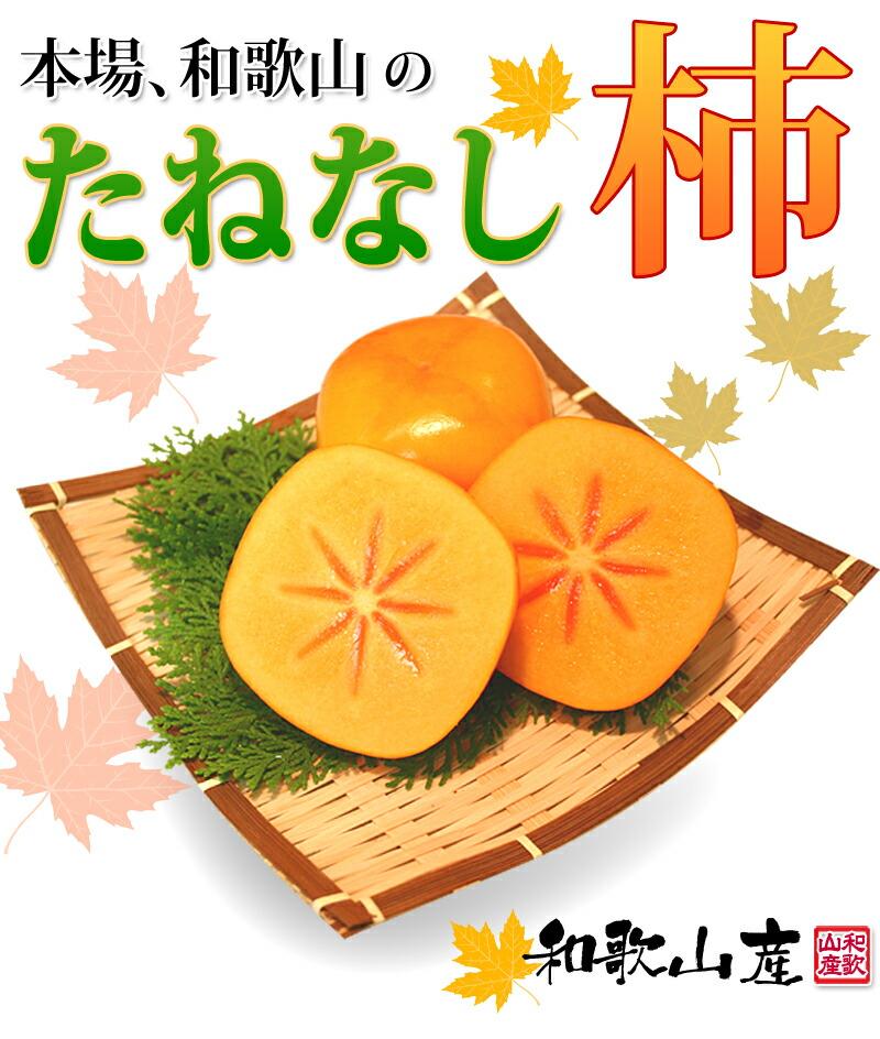 和歌山の たねなし柿 平種無し柿 カキ かき タネ無しカキ