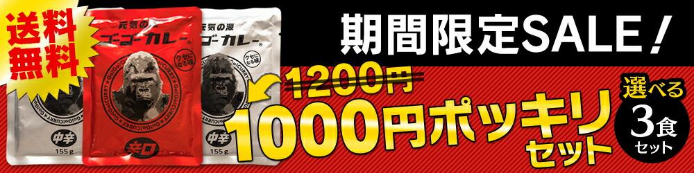 期間限定セール1000円ポッキリ