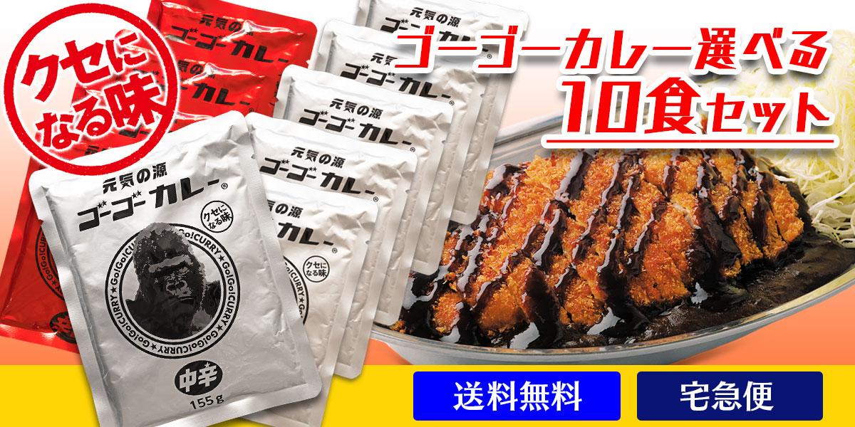 [送料無料] ゴーゴーカレー 選べる10食セット