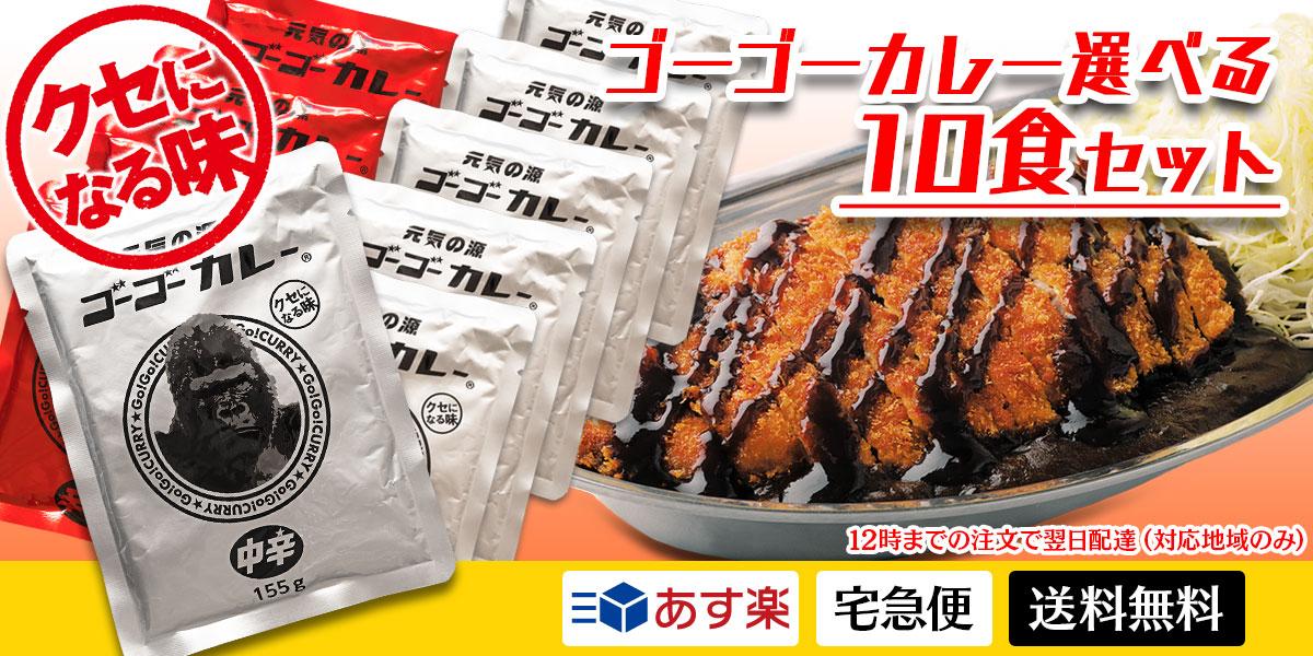 [あす楽・送料無料] ゴーゴーカレー 選べる10食セット