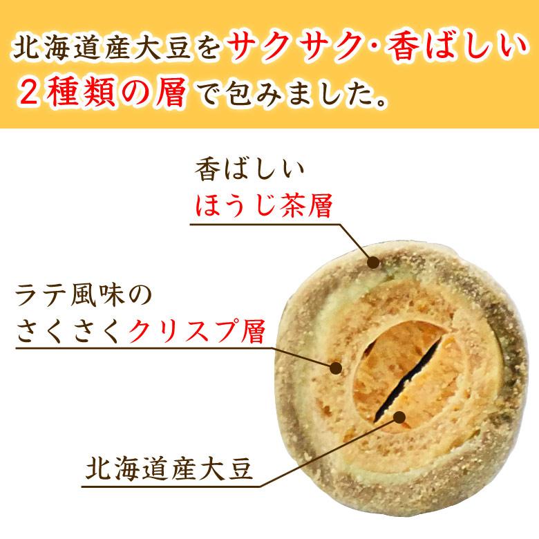ほうじ茶ラテ大豆_北海道産大豆を2つの層で包みました