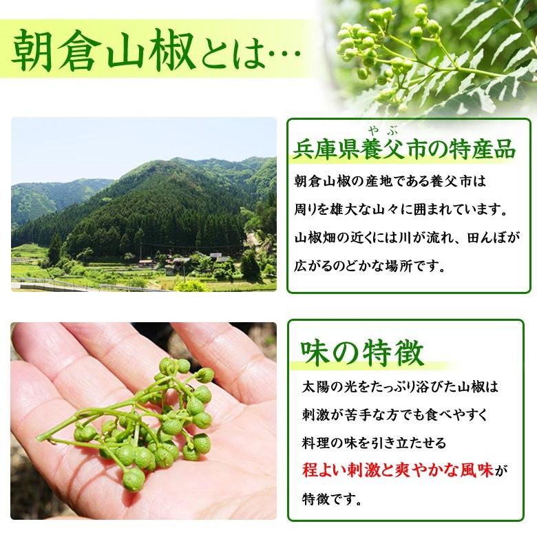 山椒が香る砂肝スモークで使用している朝倉山椒の紹介